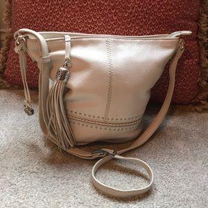 Brighton cream leather bag